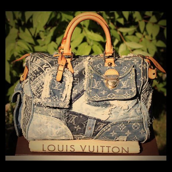 193bb875da61 Louis Vuitton Handbags - 🌟🥂NEW ARRIVAL!🥂LV patchwork denim speedy 30🥂